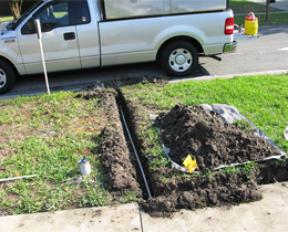 a sprinkler installation job done by our Galena Park irrigation repair team