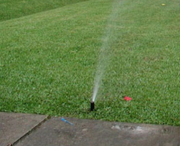 a sprinkler installation done by our South Houston irrigation repair pros